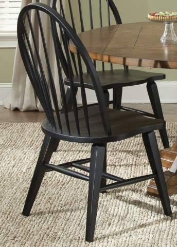 Hearthstone Black Windsor Back Side Chair