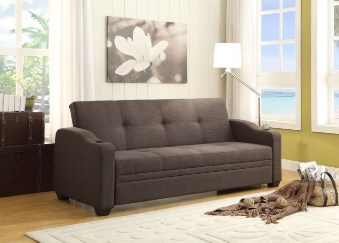 Caffery Grey Fabric Elegant Lounger