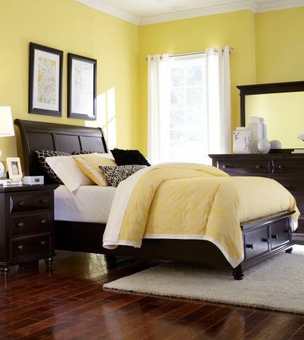 Farnsworth King Sleigh Storage Bed