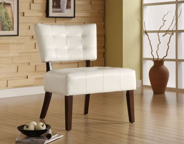 Warner White Accent Chair