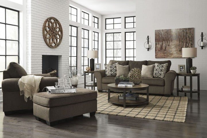 Nesso Walnut Living Room Set From Ashley Coleman Furniture
