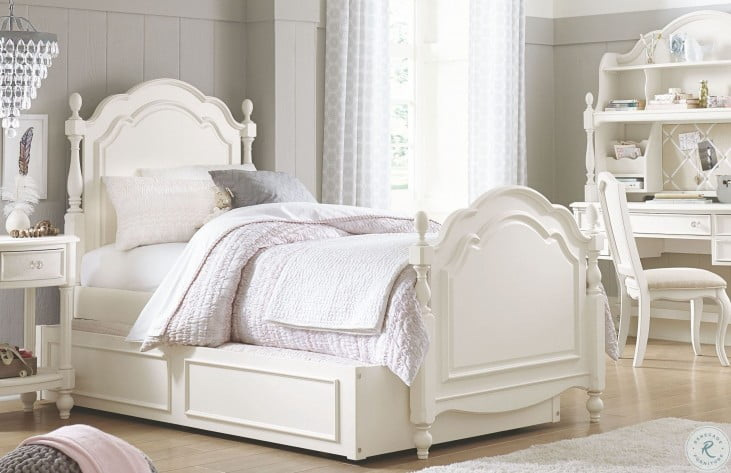 Harmony Antique Linen White Youth Summerset Low Post Bedroom Set
