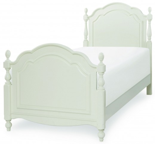Harmony Antique Linen White Twin Summerset Low Post Bed