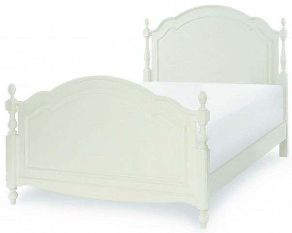 Harmony Antique Linen White Full Summerset Low Post Bed