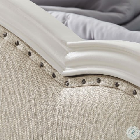 Harmony Antique Linen White Twin Victoria Upholstered ...