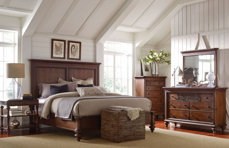 Cascade Arid Brown Panel Bedroom Set