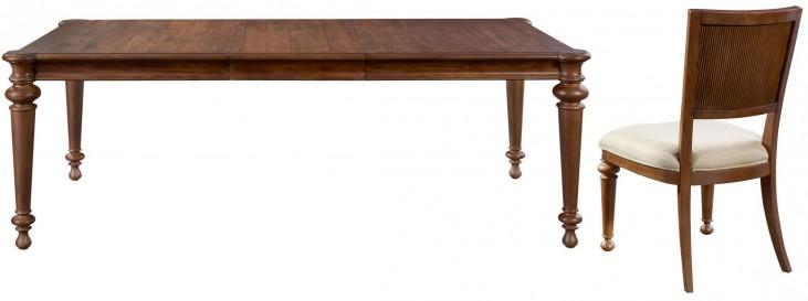 Cascade Extendable Rectangular Leg Dining Room Set