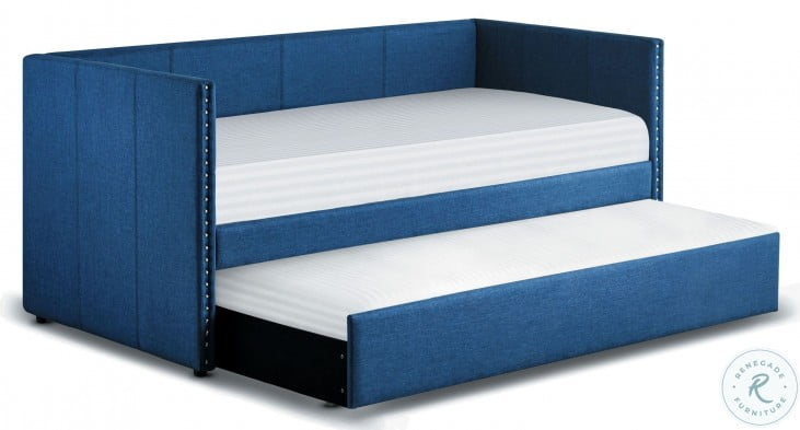 Therese Blue Twin Daybed with Trundle