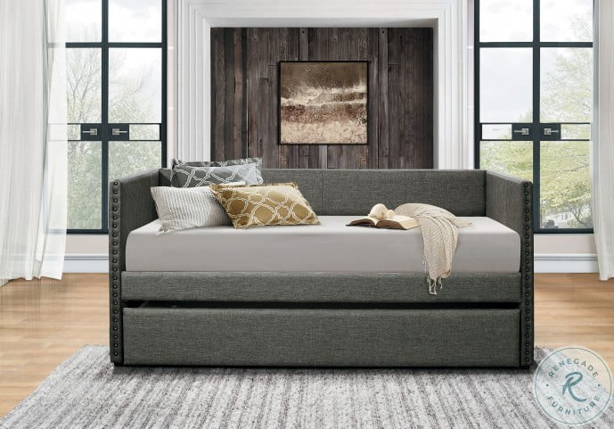 Therese Gray Twin Daybed With Trundle