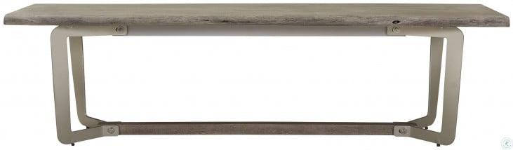 Waverly Sandblasted Gray Live Edge Dining Bench