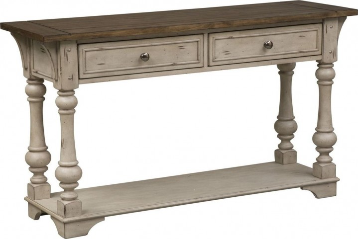 Morgan Creek Antique White Sofa Table From Liberty
