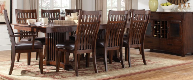 Artisan Loft Warm Medium Oak Rectangular Extendable Dining Room Set