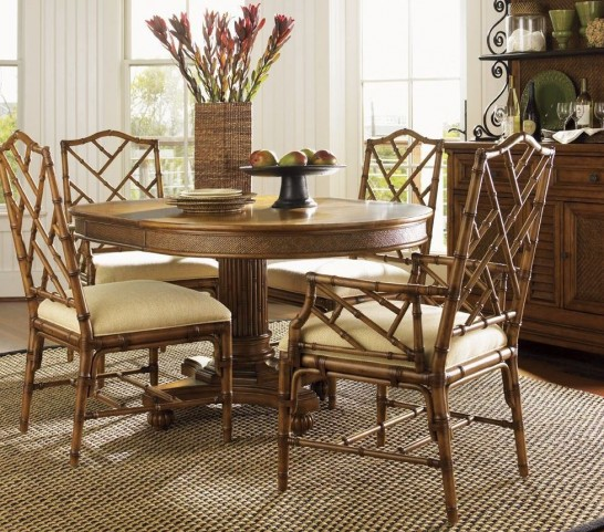 Island Estate Plantation Brown Cayman Extendable Dining Room Set