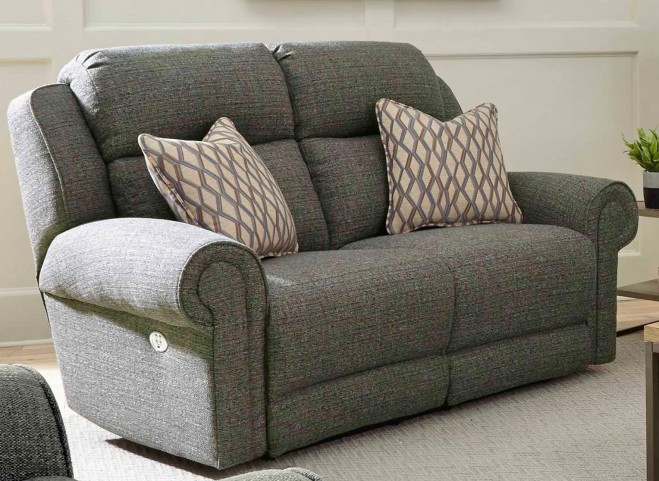 Canyon Ranch Slate Power Headrest Reclining Loveseat From