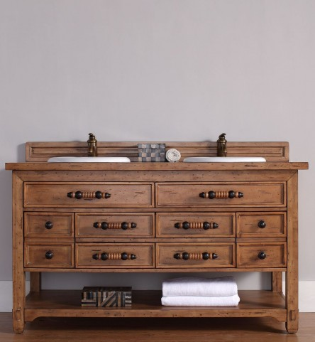"Malibu 60"" Honey Alder Double 4CM Top Vanity Set"