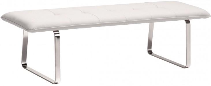 Cartierville White Bench