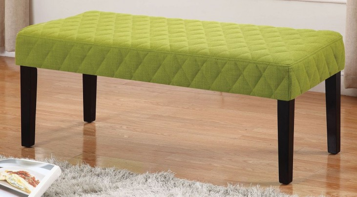 Green and Black Bench
