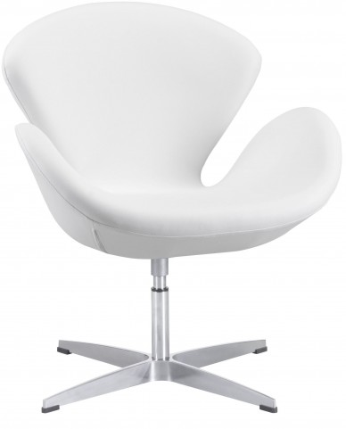 Pori White Occasional Chair