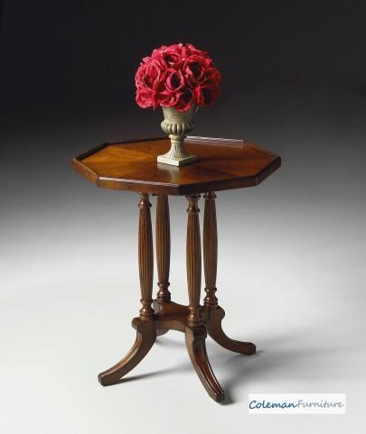 Plantation Cherry Octagon Accent Table