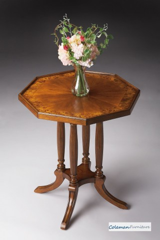 Olive Ash Octagon Accent Table