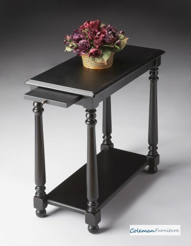 Black Licorice Chairside Table