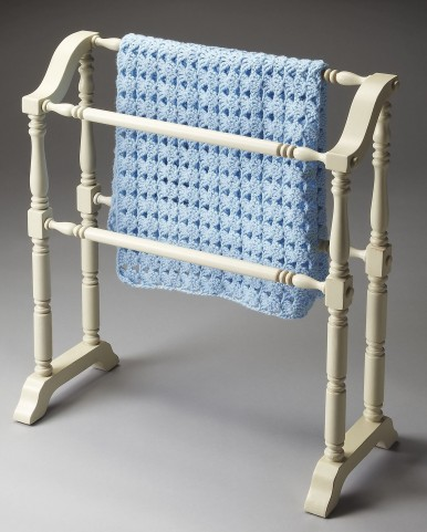 Masterpiece Lillian Cottage White Blanket Rack