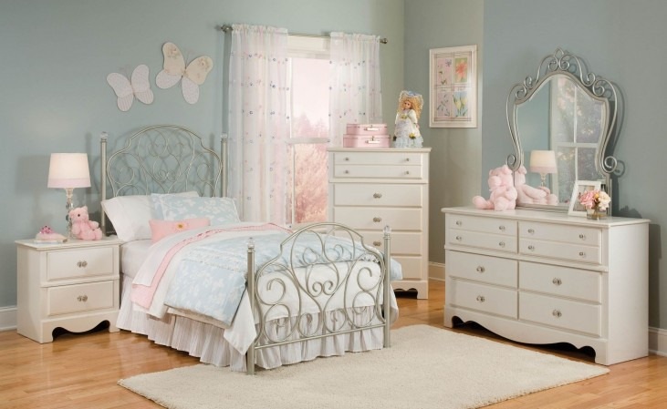 Spring Rose Youth Metal Bedroom Set
