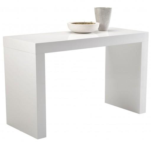 Faro White High Gloss C-Shape Counter Table