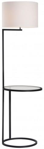 Swift White & Black Floor Lamp