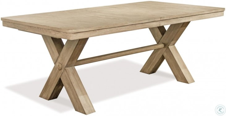 """Sophie Natural 78"""" Extendable Trestle Dining Table"""
