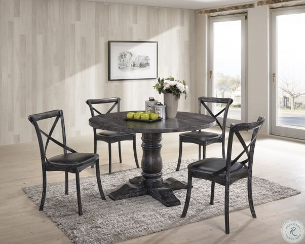Chatham Charcoal Round Dining Room Set