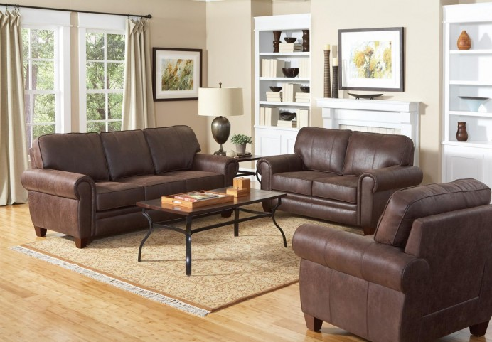 Bentley Brown Living Room Set