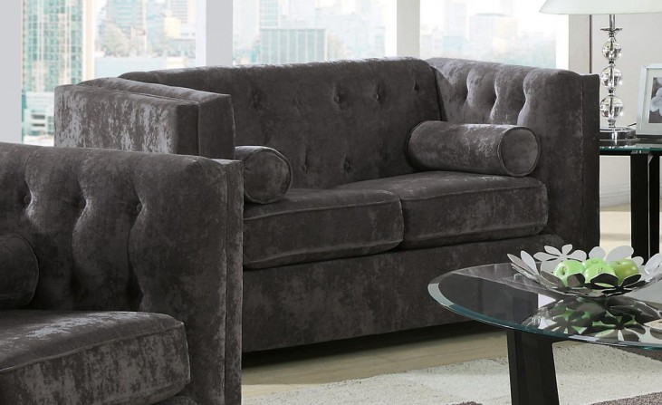 Alexis Charcoal Loveseat
