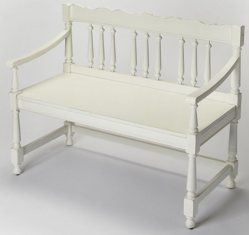 Cather Cottage White Bench