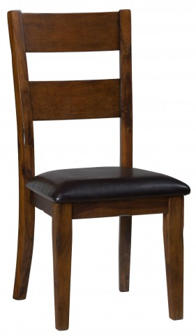 Plantation Ladderback Upholstered Side Chair Set of 2