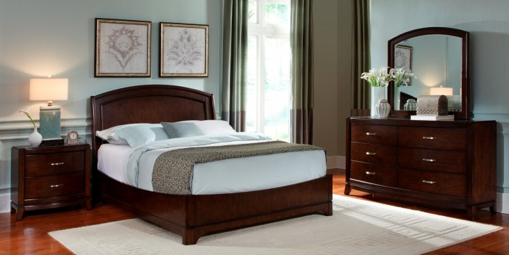 Avalon Dark Truffle Platform Bedroom Set