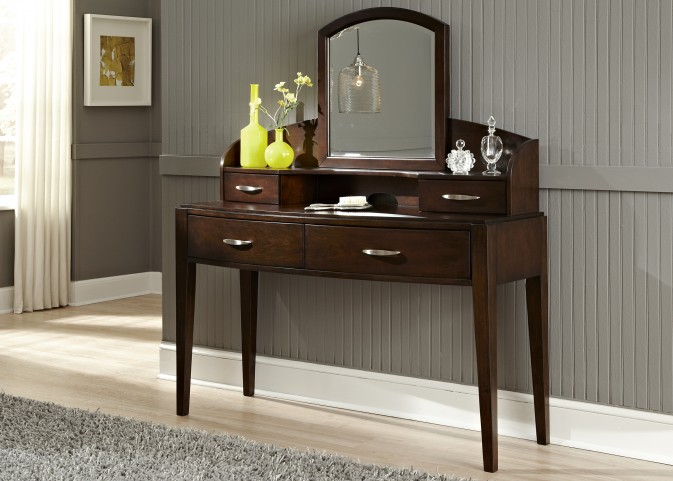 Avalon Truffle Vanity With Hutch and Mirror