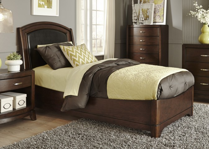 Avalon Truffle Youth Leather Bedroom Set