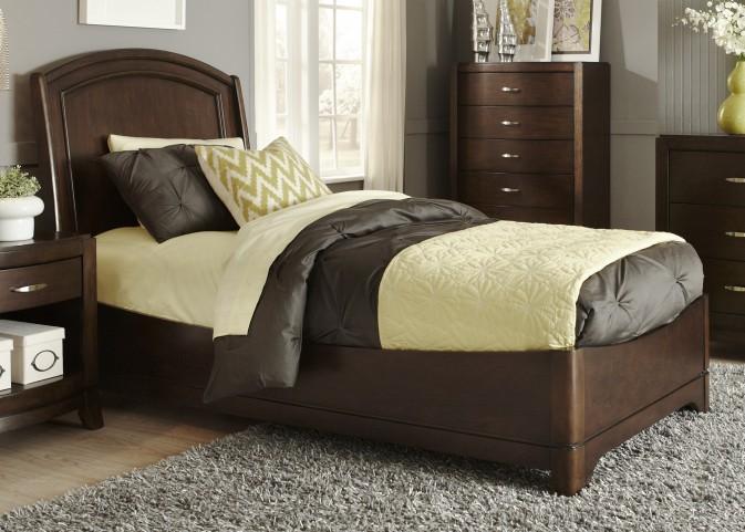 Avalon Truffle Twin Platform Bed