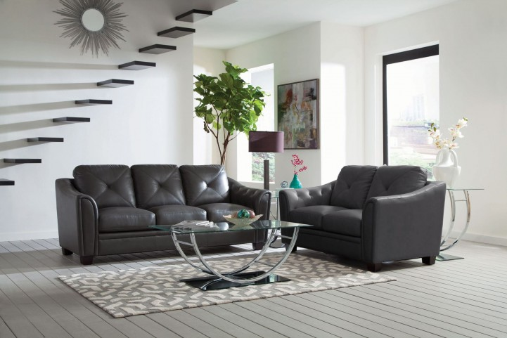 Avison Grey Living Room Set