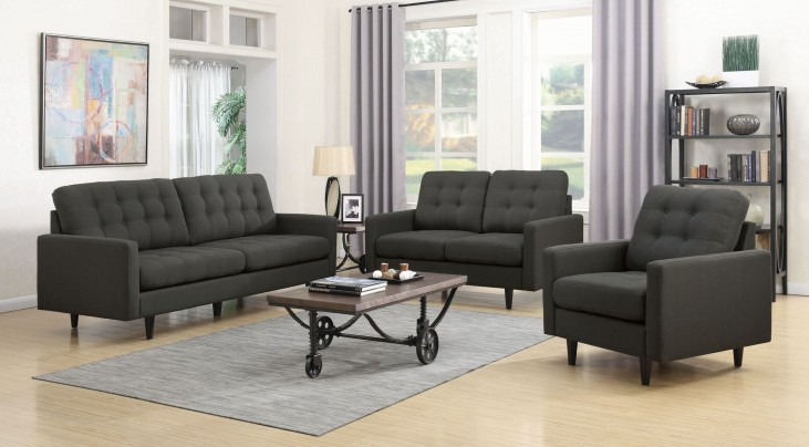Kesson Charcoal Living Room Set