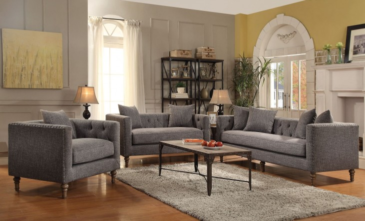 Ellery Grey Living Room Set