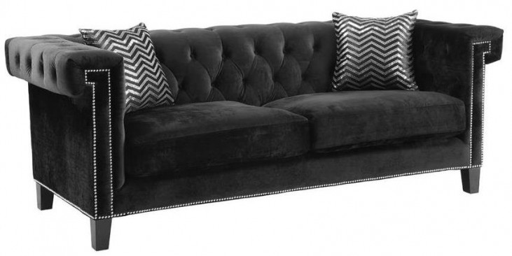 Reventlow Black Sofa