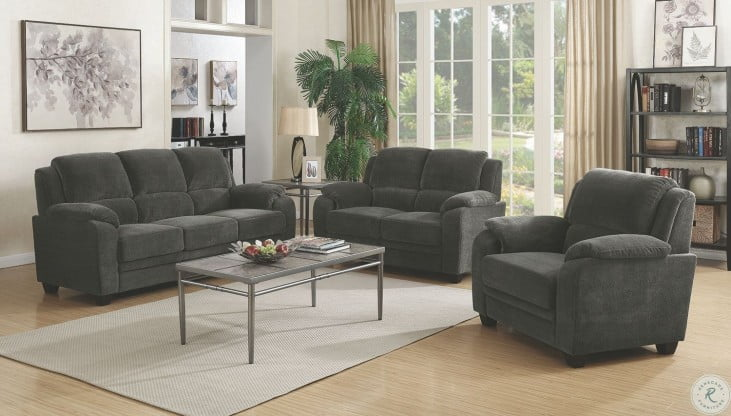 Northend Charcoal Living Room Set 506241 42 Coaster Furniture