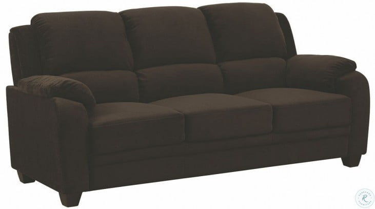 Northend Chocolate Living Room Set From Coaster 506244