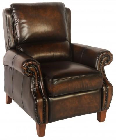 Prato Black & Tan Leather Recliner