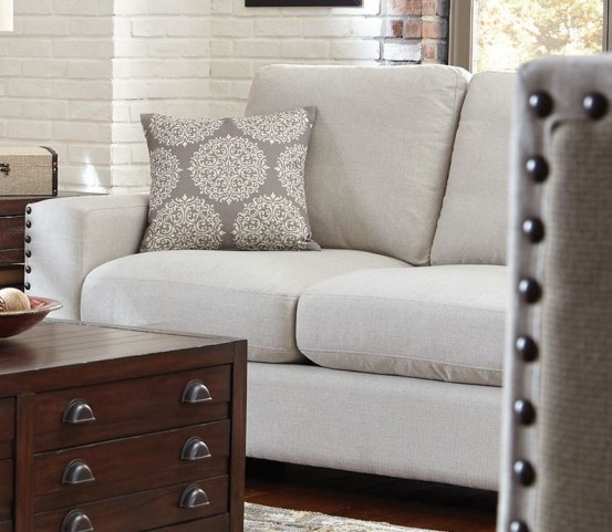 Rosanna Pewter Linen Loveseat by Donny Osmond