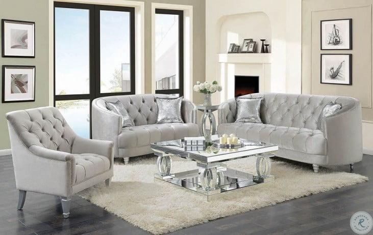 Avonlea Gray Velvet Living Room Set