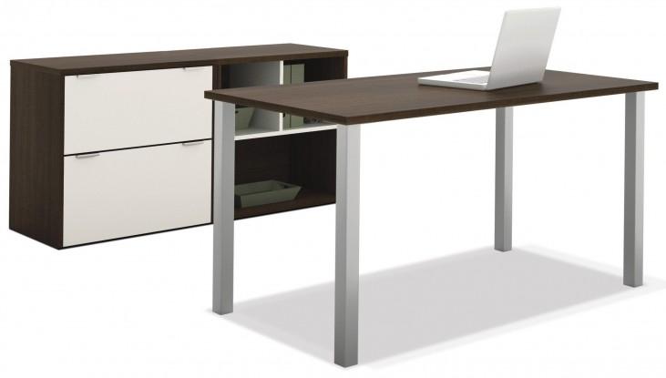 Contempo Tuxedo & Sandstone Executive Desk Set