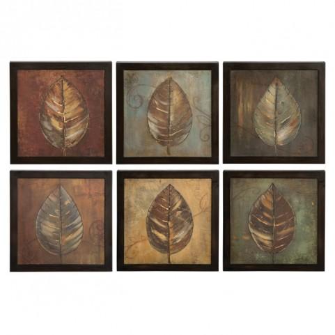 New Leaf Framed Panel Set of 6